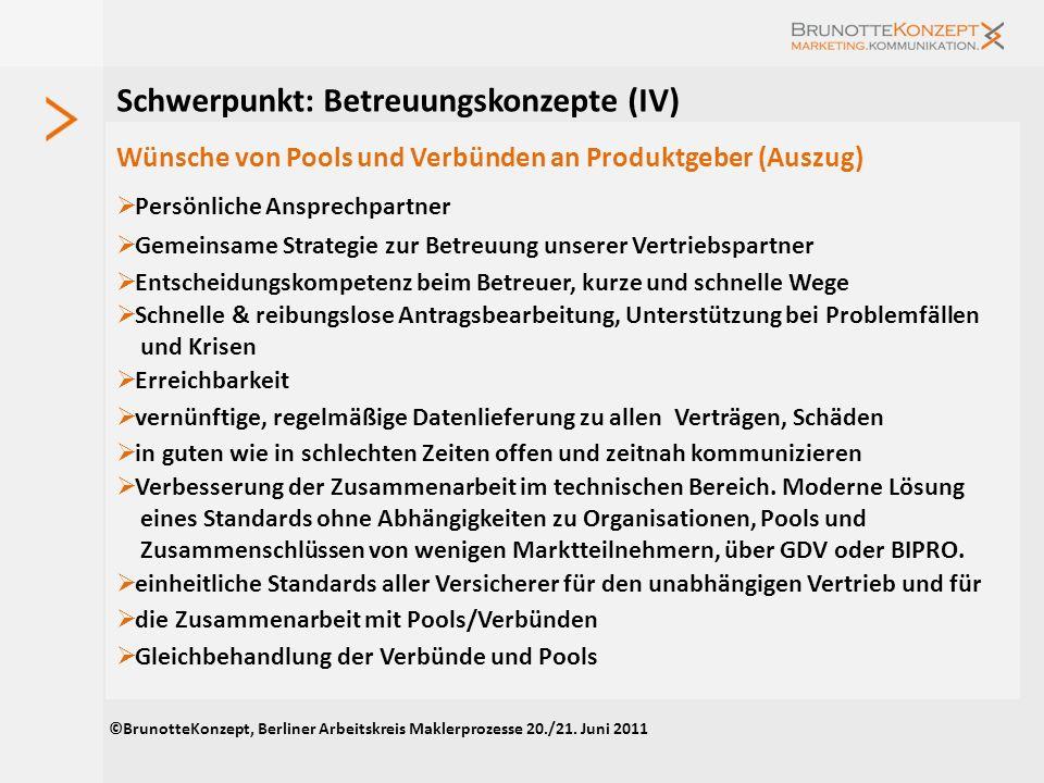 Schwerpunkt: Betreuungskonzepte (II) Die größten Herausforderungen in der Betreuung von Vertriebspartnern für Pools und Verbünde Mitarbeiterrekrutieru