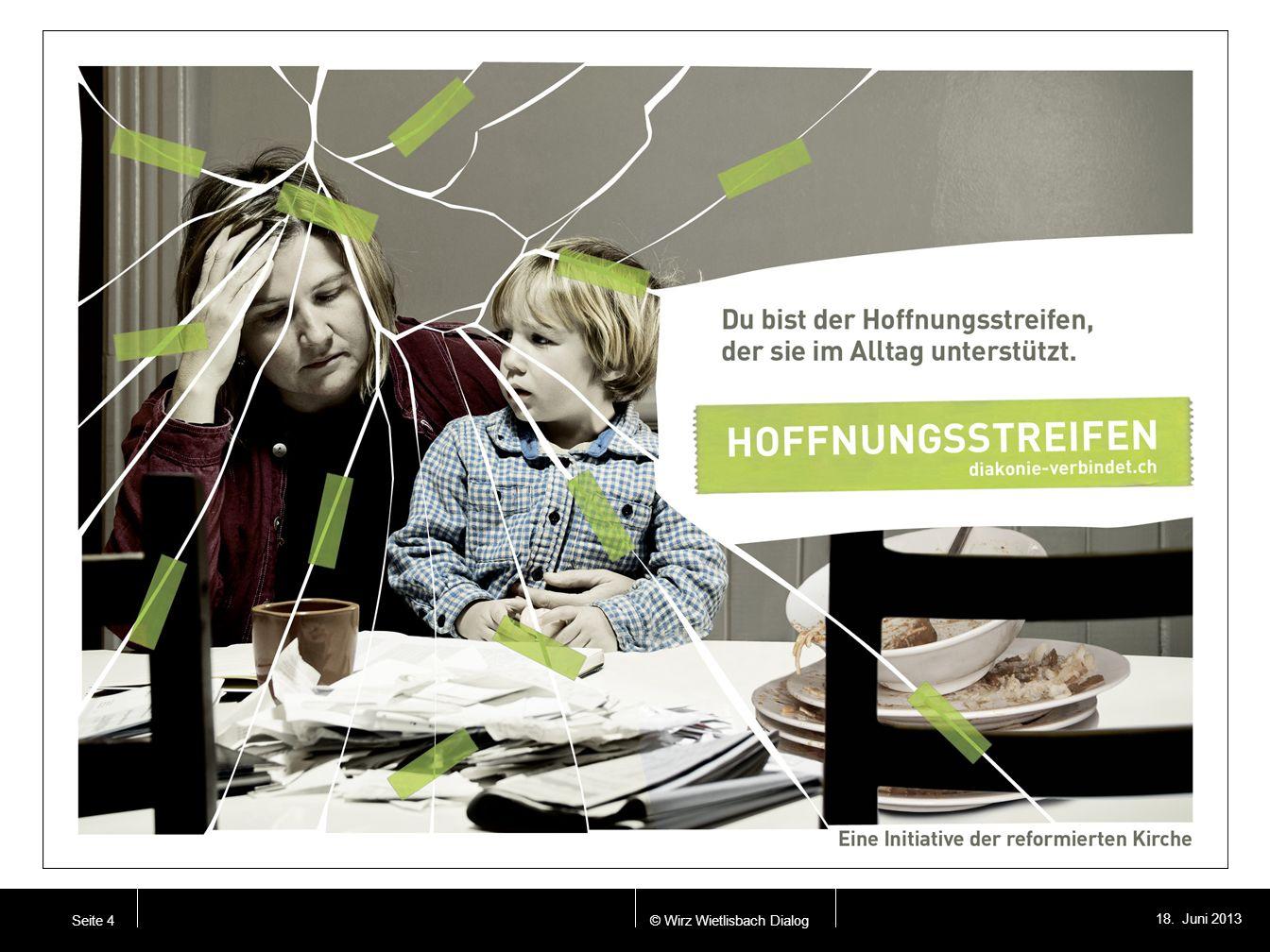 © Wirz Wietlisbach Dialog 18. Juni 2013 Seite 4 Seite 8. / Anzeige zwei AKTUALISIEREN!!!