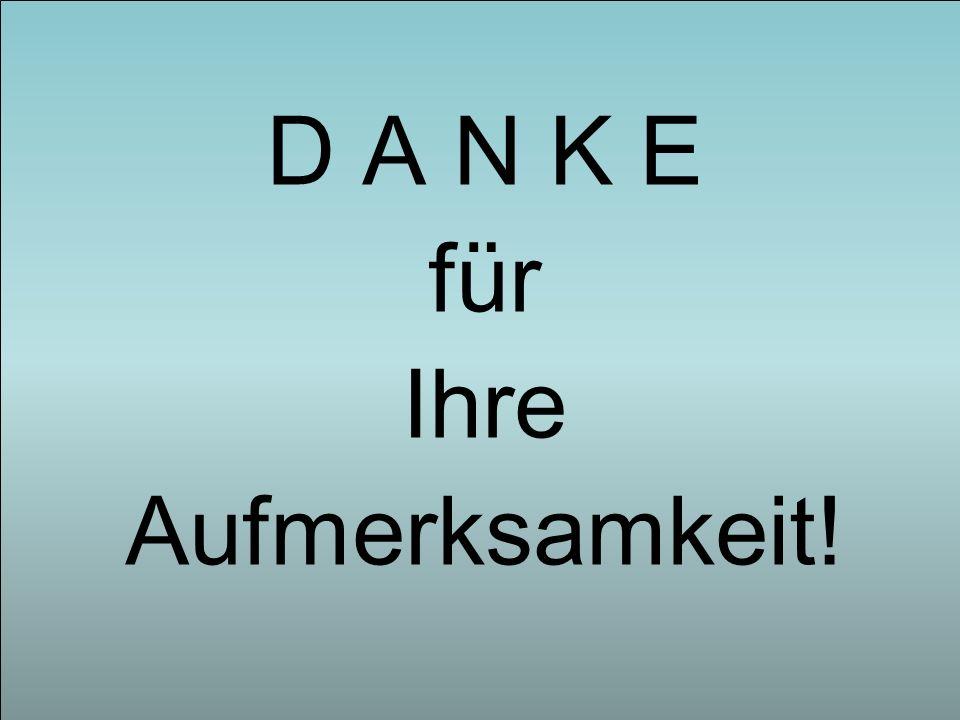 D A N K E für Ihre Aufmerksamkeit!