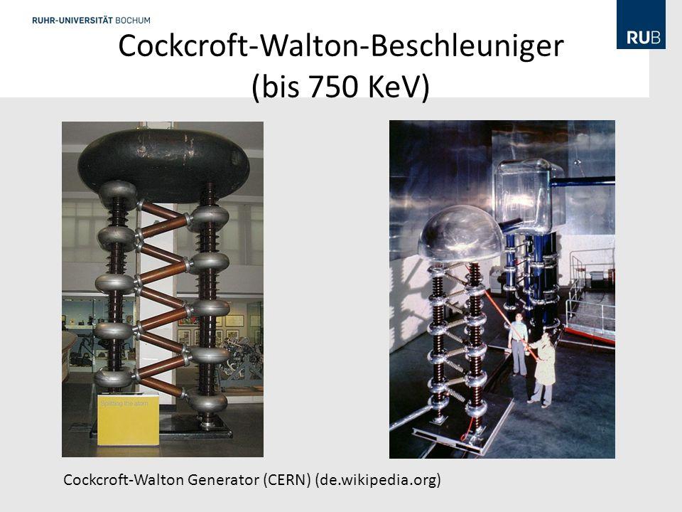 Cockcroft-Walton-Beschleuniger (bis 750 KeV) Cockcroft-Walton Generator (CERN) (de.wikipedia.org)
