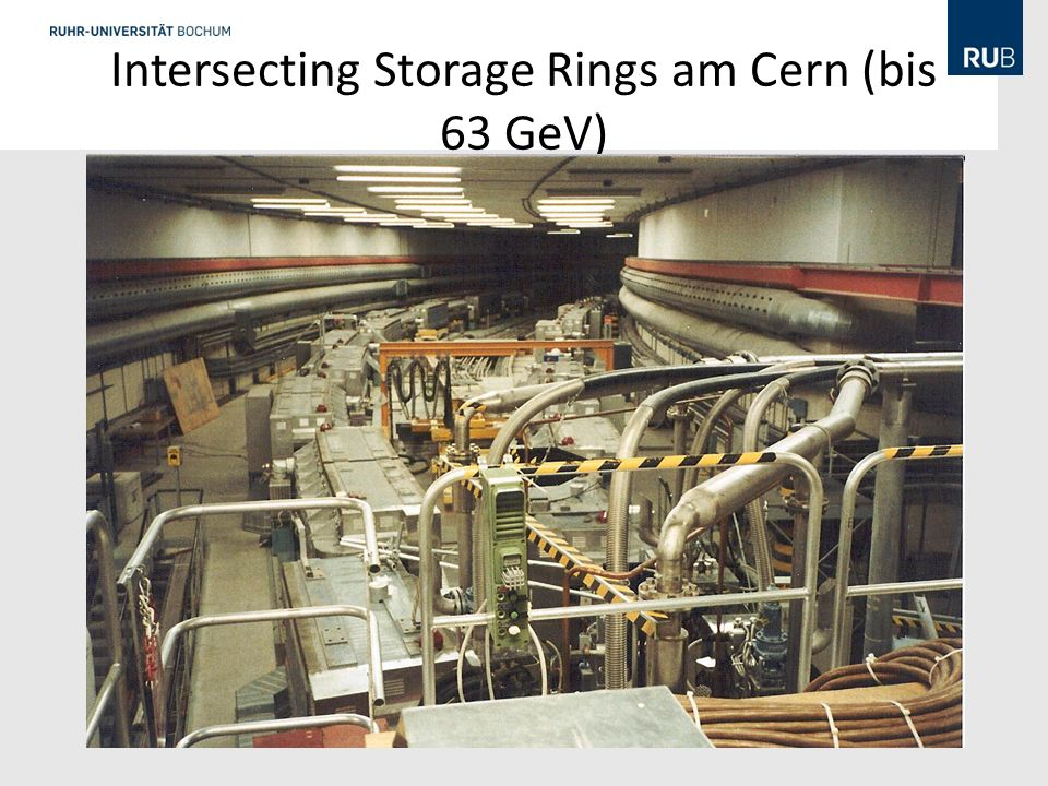 Intersecting Storage Rings am Cern (bis 63 GeV) http://hedberg.web.cern.ch/hedberg/home/afs/afs.html