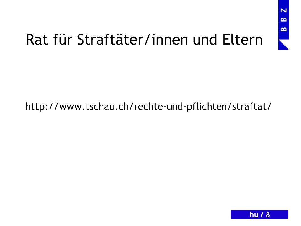 hu / 9 Statistisches http://www.bfs.admin.ch/bfs/portal/de/index/th emen/19/03/04/key/ueberblick/wichtigste_zahlen.html (Entweder im Präsentationsmodus von PowerPoint anklicken oder Link kopieren und in Browser einfügen)