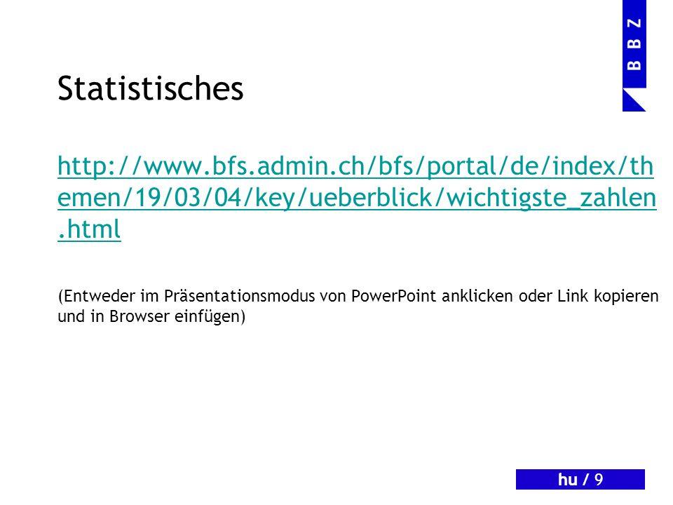 hu / 10 Das Gesetz http://www.admin.ch/ch/d/sr/311_1/index.html (Entweder im Präsentationsmodus von PowerPoint anklicken oder Link kopieren und in Browser einfügen)