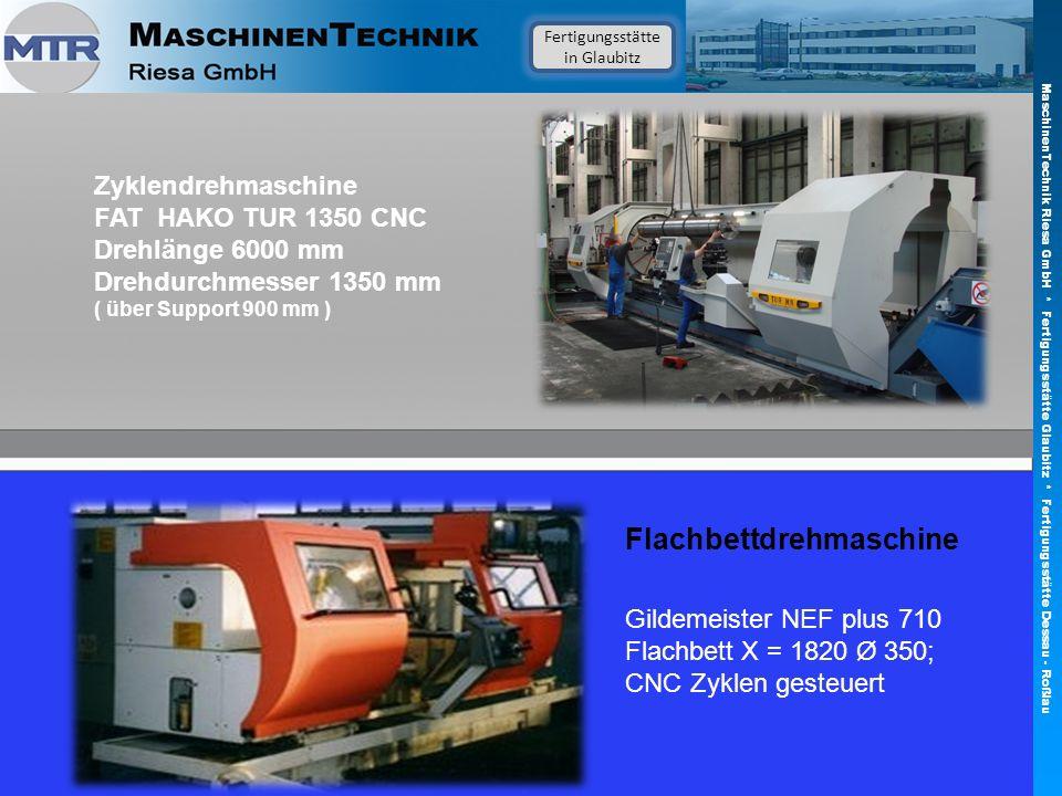Zyklendrehmaschine FAT HAKO TUR 1350 CNC Drehlänge 6000 mm Drehdurchmesser 1350 mm ( über Support 900 mm ) Flachbettdrehmaschine Gildemeister NEF plus