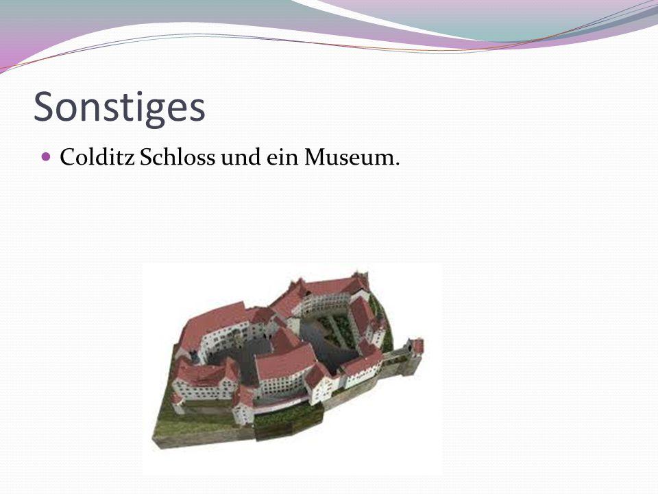 Sonstiges Colditz Schloss und ein Museum.