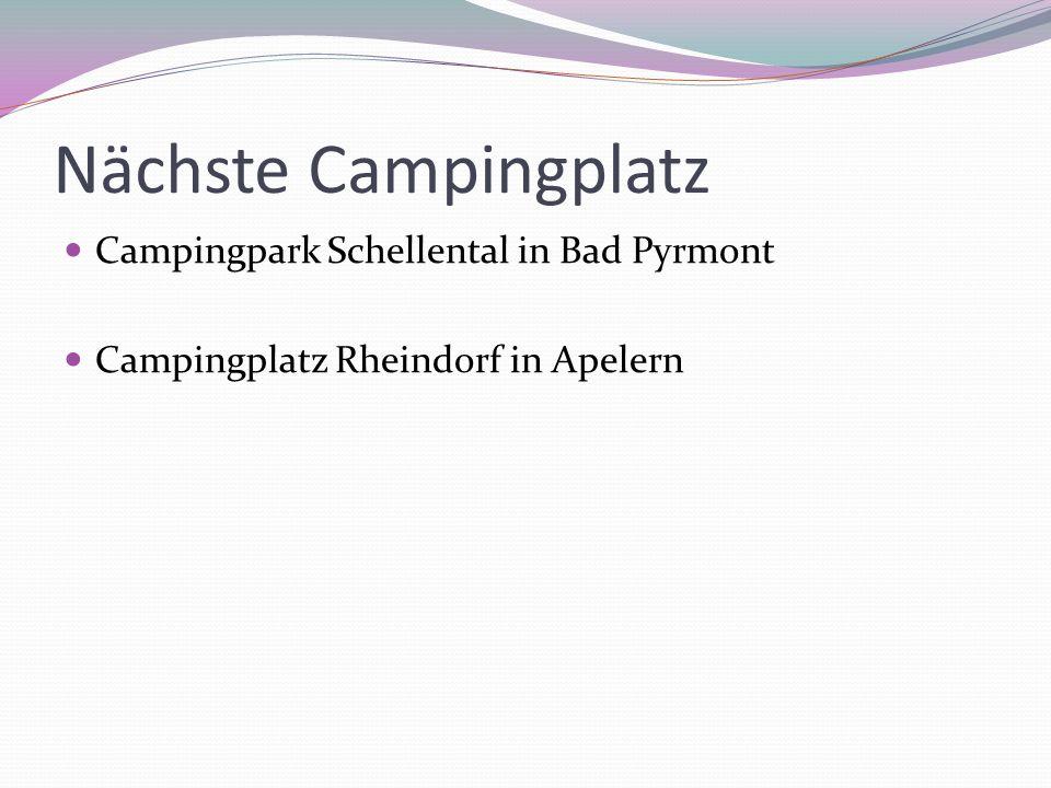 Nächste Campingplatz Campingpark Schellental in Bad Pyrmont Campingplatz Rheindorf in Apelern