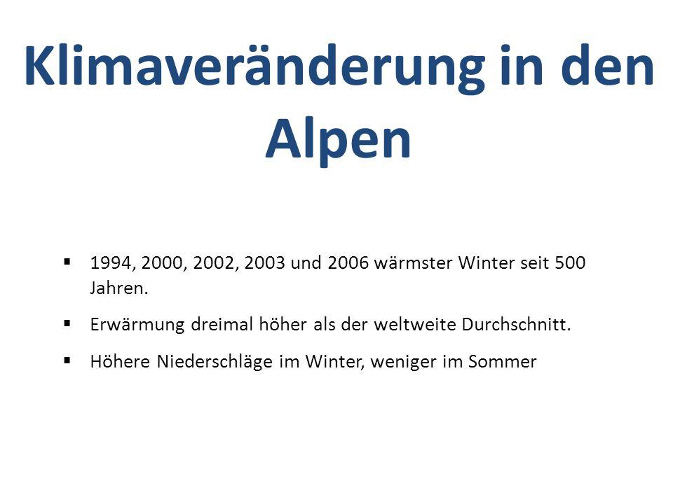 1994, 2000, 2002, 2003 und 2006 wärmster Winter seit 500 Jahren.