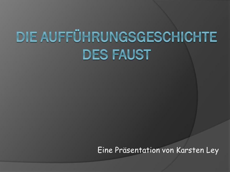 Inhaltsverzeichnis - Vorgeschichte - Bedeutende Inszenierungen I.