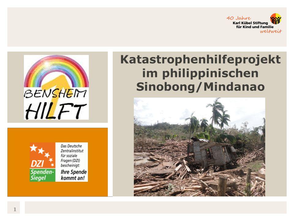 Insel Mindanao 2 Der Taifun Pablo traf am 04.12.2012 die philippinische Insel Mindanao und richtete große Schäden an der Infrastruktur an, tötete über 1.000 Menschen und ließ Tausende obdachlos werden.