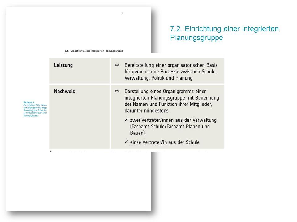 7.2. Einrichtung einer integrierten Planungsgruppe