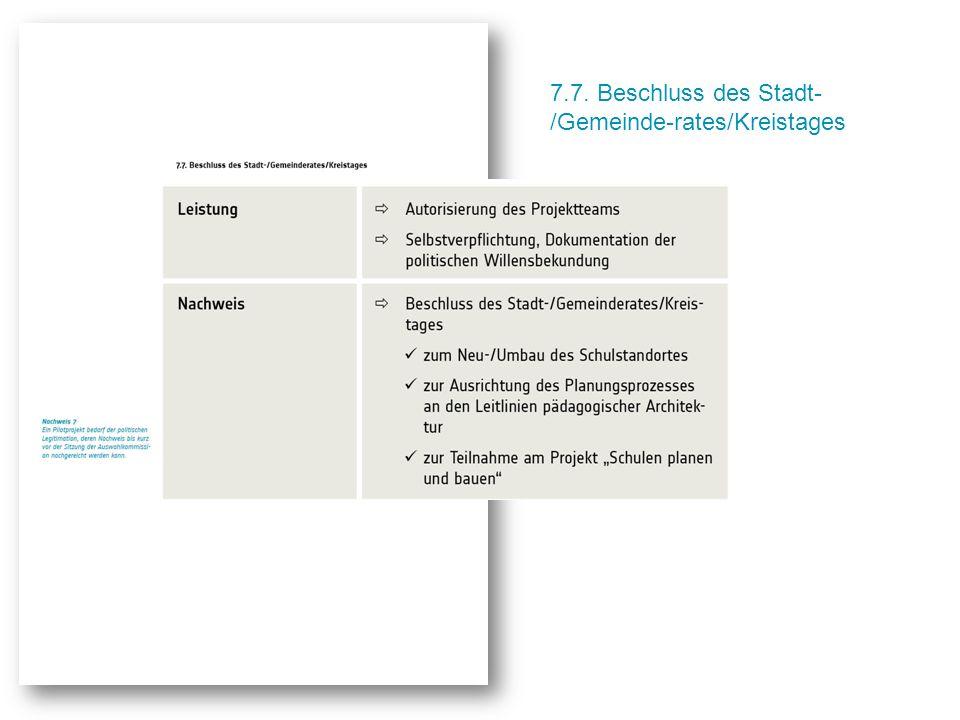 7.7. Beschluss des Stadt- /Gemeinde-rates/Kreistages