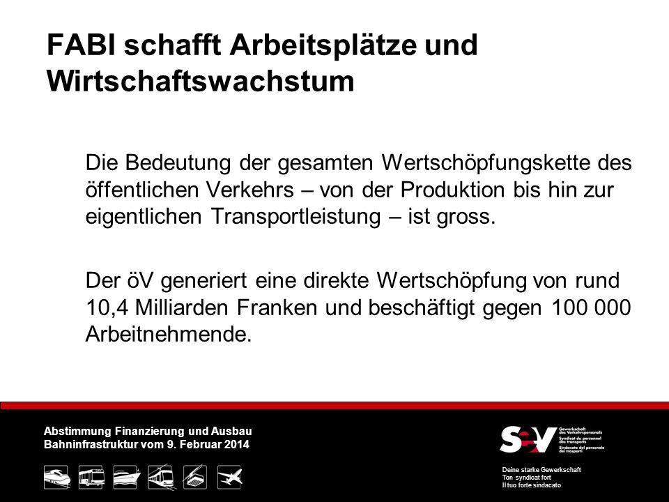 Abstimmung Finanzierung und Ausbau Bahninfrastruktur vom 9.