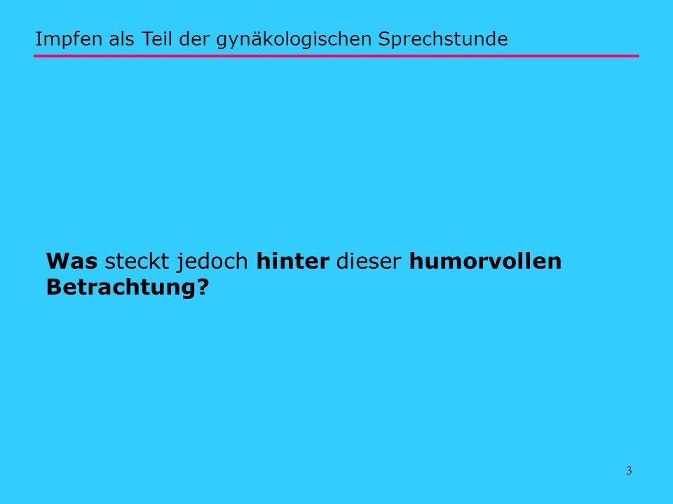 14 http://www.slaek.de/60infos/infosarzt/36impfen/pdf/e1.pdf Impfen als Teil der gynäkologischen Sprechstunde