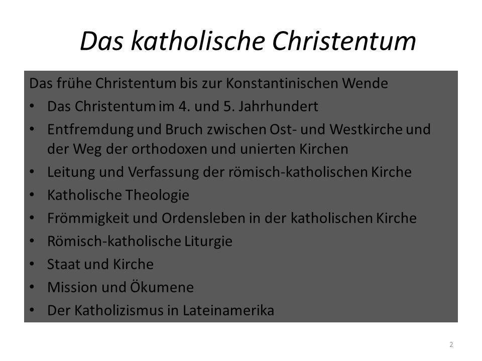 Frömmigkeit und Ordensleben in der katholischen Kirche Idealbild des Bekenners und Märtyrers in der Antike Kirchenbuße zunächst als einmaliger Akt, dann als wiederholbare Einzelbeichte ab dem 4./5.