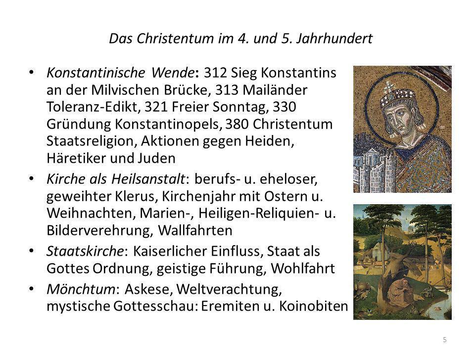 Das Christentum im 4.und 5.