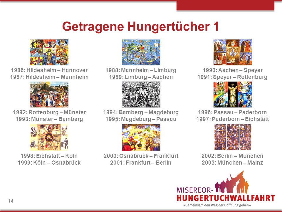 1986: Hildesheim – Hannover 1987: Hildesheim – Mannheim 1992: Rottenburg – Münster 1993: Münster – Bamberg 1998: Eichstätt – Köln 1999: Köln – Osnabrü