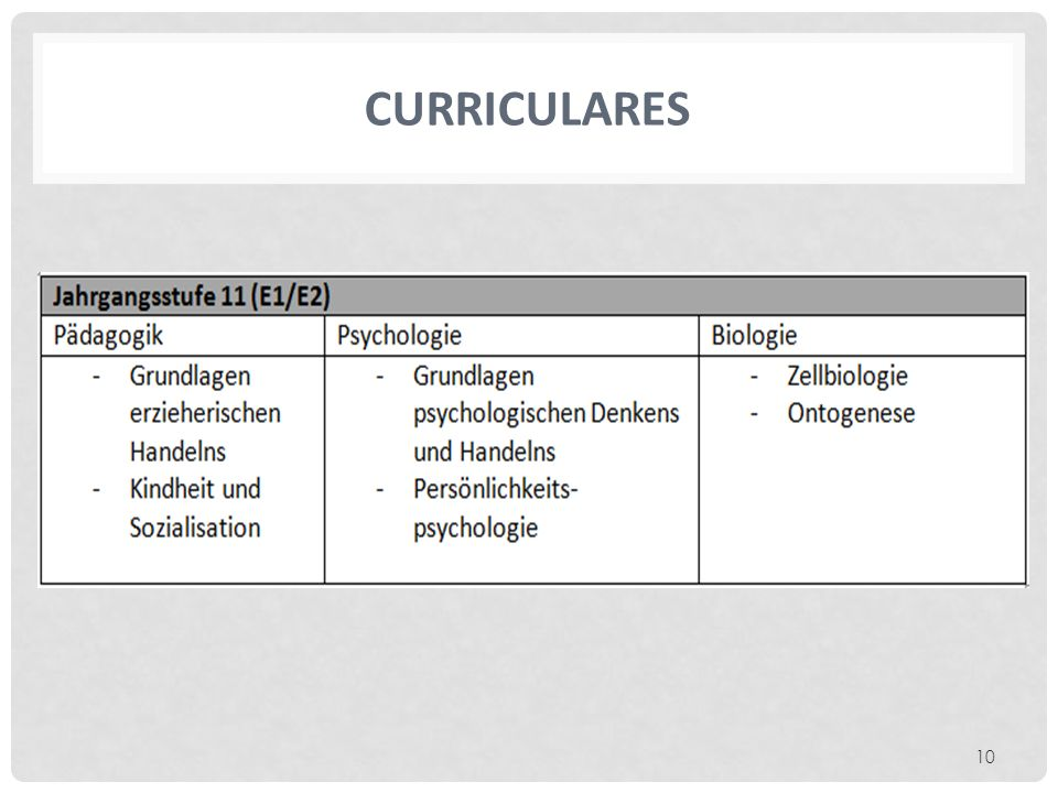 CURRICULARES 10