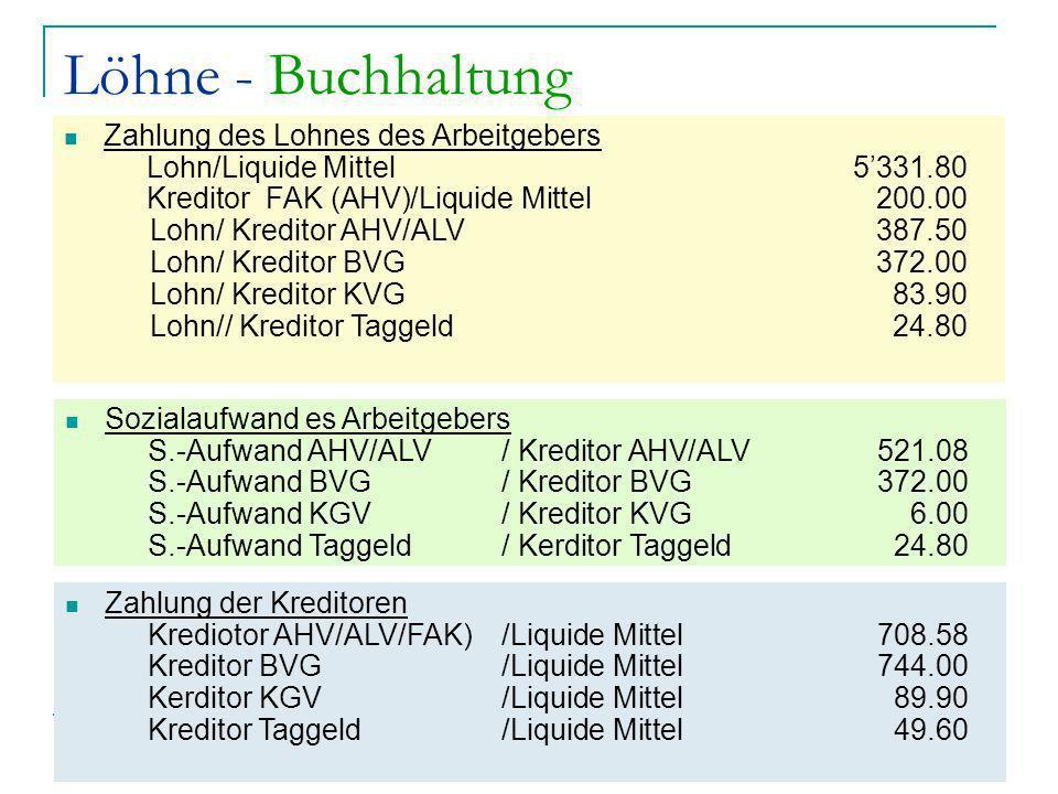 Jean-Pierre Chardonnens comptabilité générale John Hess Finanzbuchhaltung 10 Löhne - Buchhaltung Zahlung des Lohnes des Arbeitgebers Lohn/Liquide Mitt