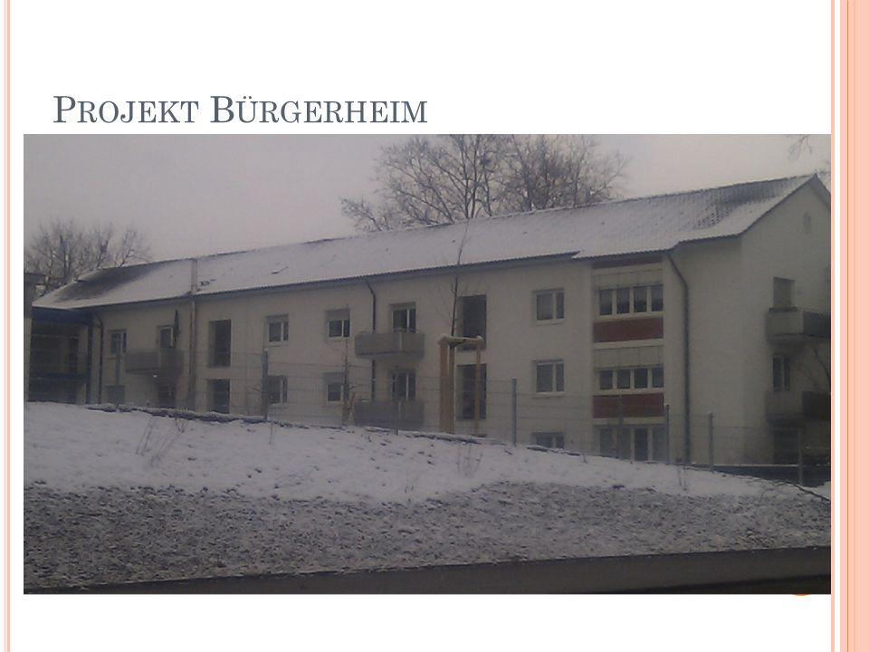 P ROJEKT B ÜRGERHEIM Foto Bürgerheim, Gebäude A + Foto Gebäude Nollinger Straße 41/43
