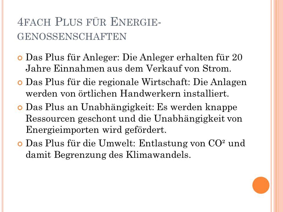 B EISPIELE FÜR G ENOSSENSCHAFTEN EWS Schönau Eine der größten und ältesten Energie- genossenschaften.