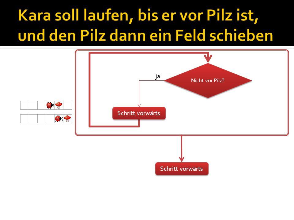 public void myMainProgram() { for (int y = 0; y < world.getSizeY(); y++) { for (int x = 0; x < world.getSizeX(); x = x + 2) { world.setLeaf(x, y, true); } int x=8 int y=0 Methode myProgram y=0 x=8