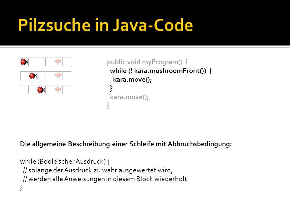 public void myProgram() { while (.