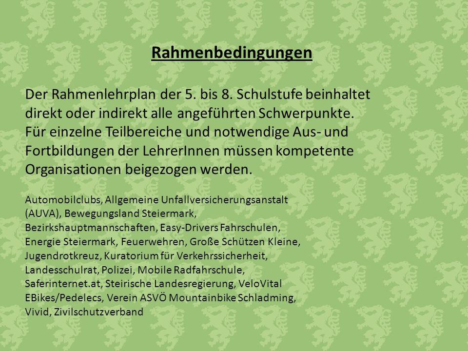 Rahmenbedingungen Der Rahmenlehrplan der 5. bis 8.