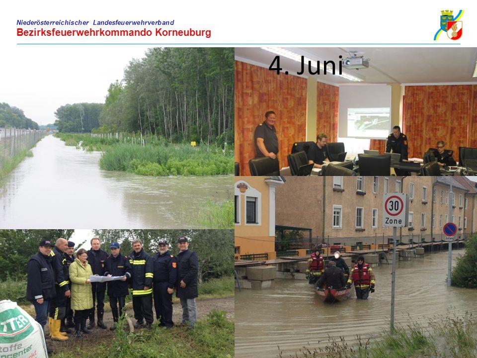 Niederösterreichischer Landesfeuerwehrverband Bezirksfeuerwehrkommando Korneuburg 4. Juni