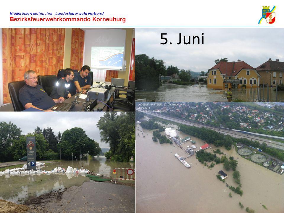 Niederösterreichischer Landesfeuerwehrverband Bezirksfeuerwehrkommando Korneuburg 5. Juni