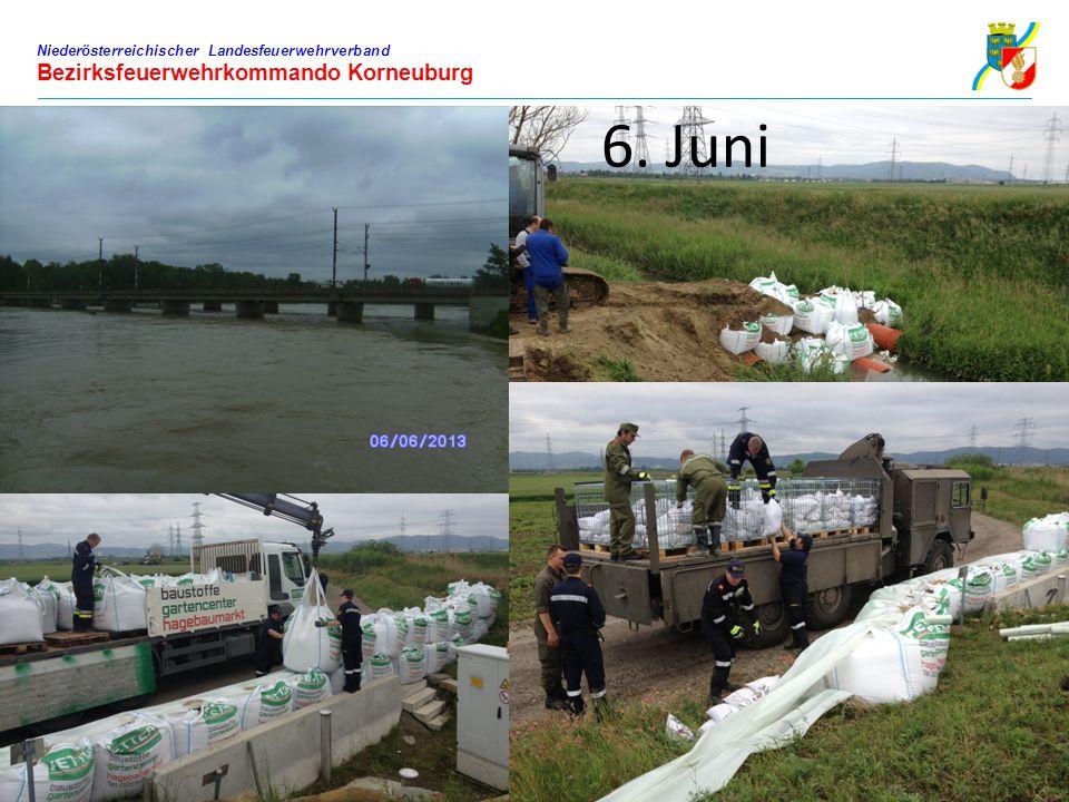 Niederösterreichischer Landesfeuerwehrverband Bezirksfeuerwehrkommando Korneuburg 6. Juni