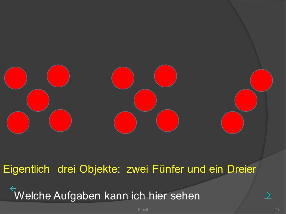 Eigentlich drei Objekte: zwei Fünfer und ein Dreier Steibl25 Welche Aufgaben kann ich hier sehen