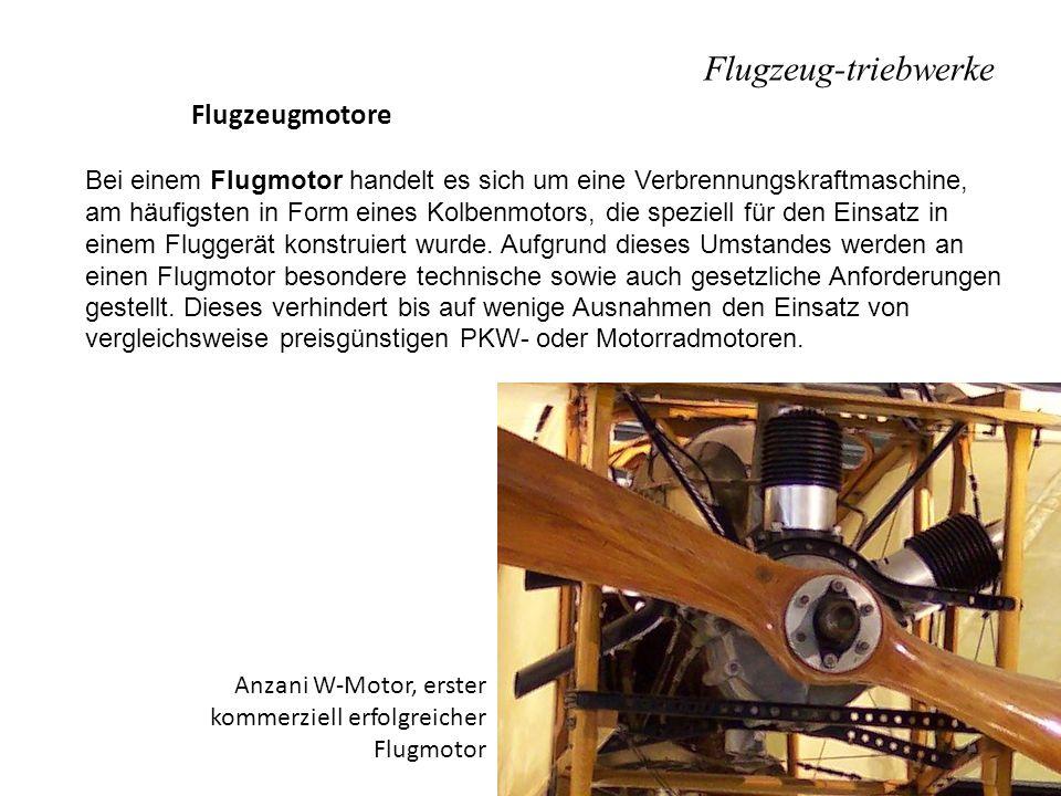 Flugzeug-triebwerke Flugzeugmotore Bei einem Flugmotor handelt es sich um eine Verbrennungskraftmaschine, am häufigsten in Form eines Kolbenmotors, di