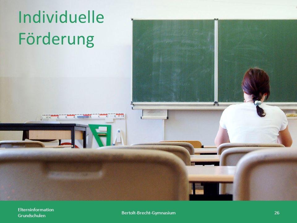Individuelle Förderung Elterninformation Grundschulen Bertolt-Brecht-Gymnasium26
