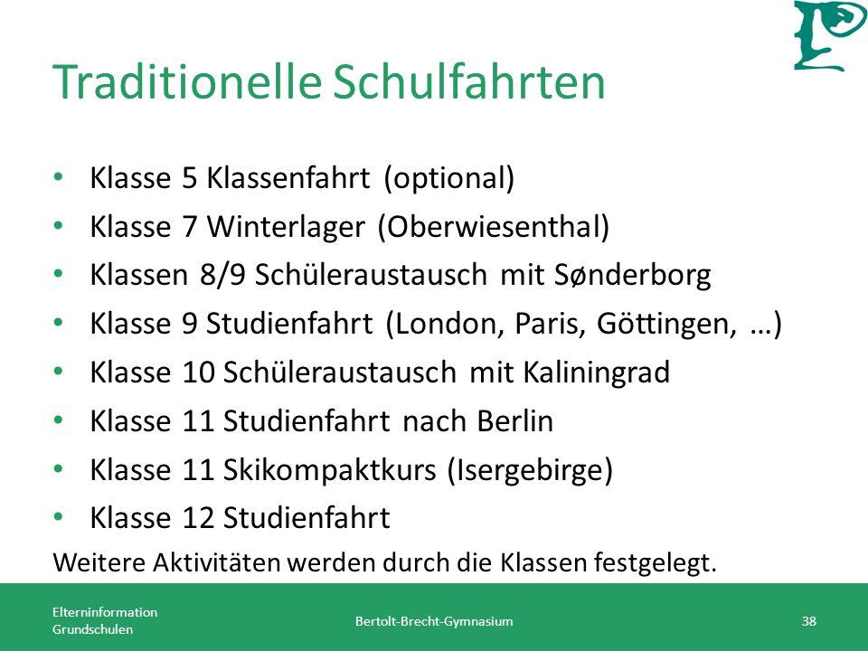 Traditionelle Schulfahrten Klasse 5 Klassenfahrt (optional) Klasse 7 Winterlager (Oberwiesenthal) Klassen 8/9 Schüleraustausch mit Sønderborg Klasse 9