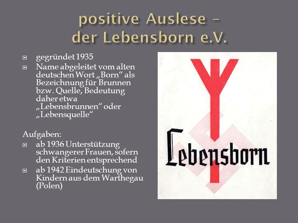 gegründet 1935 Name abgeleitet vom alten deutschen Wort Born als Bezeichnung für Brunnen bzw. Quelle, Bedeutung daher etwa Lebensbrunnen oder Lebensqu
