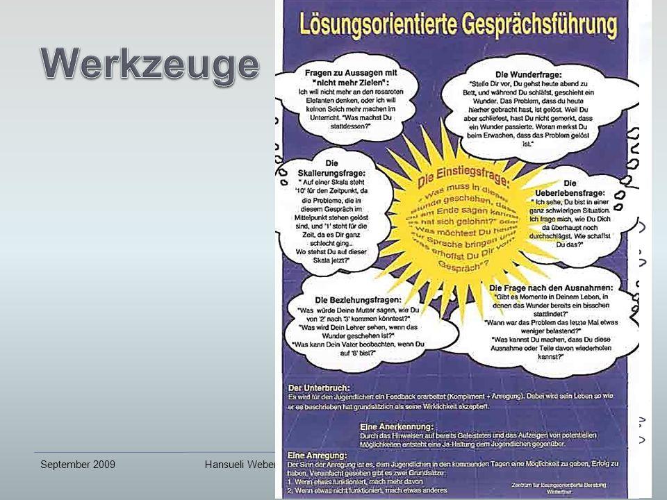 September 2009Hansueli Weber, Beratung und Bildung, www.lernvisionen.ch16