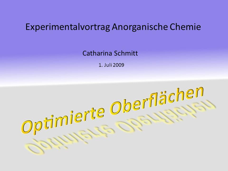 G LIEDERUNG Eigenschaften von Oberflächen: Einfluss der Größe Katalytische Eigenschaften Optimierung von Oberflächen: Superhydrophobe Oberflächen Schutzschichten Eloxal-Verfahren 2