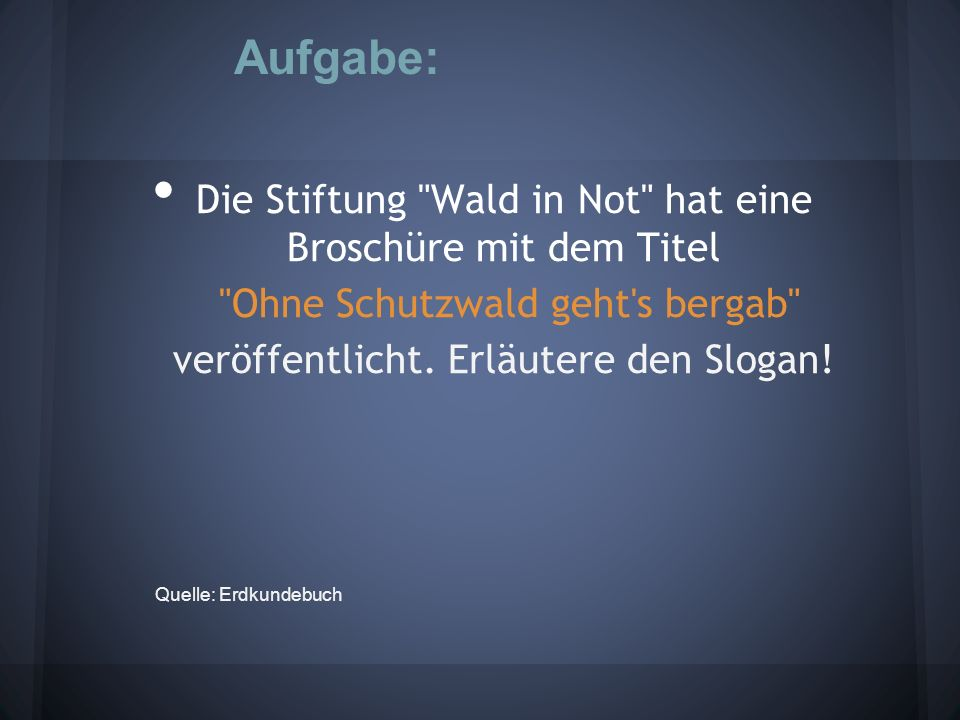 D ie Stiftung