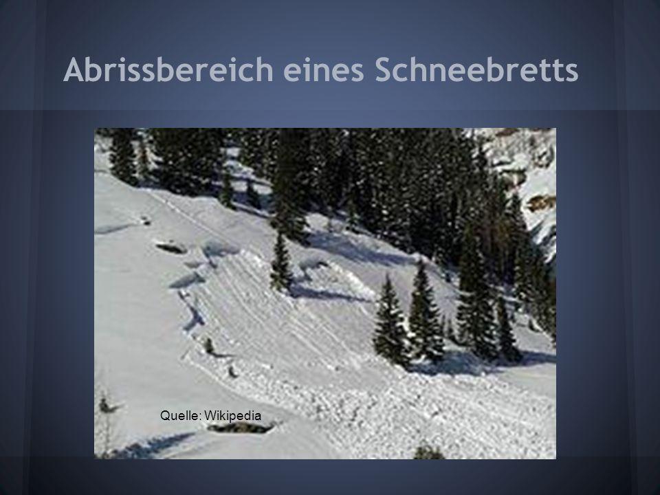 Abrissbereich eines Schneebretts Quelle: Wikipedia