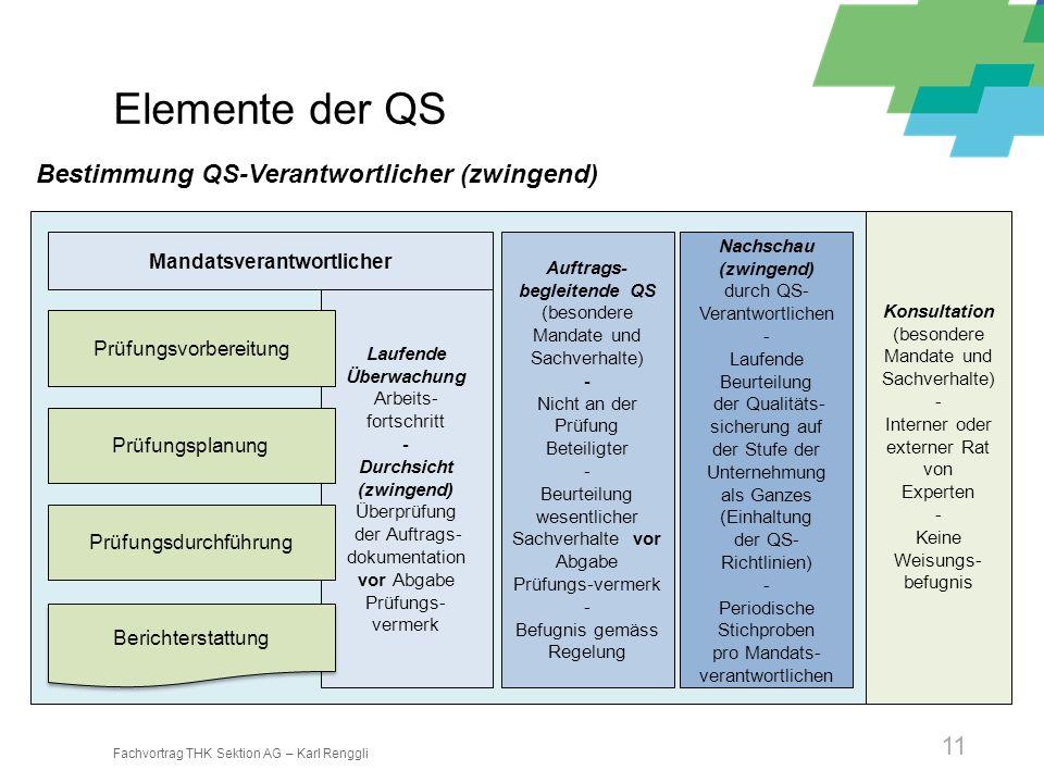 Fachvortrag THK Sektion AG – Karl Renggli 11 Laufende Überwachung Arbeits- fortschritt - Durchsicht (zwingend) Überprüfung der Auftrags- dokumentation
