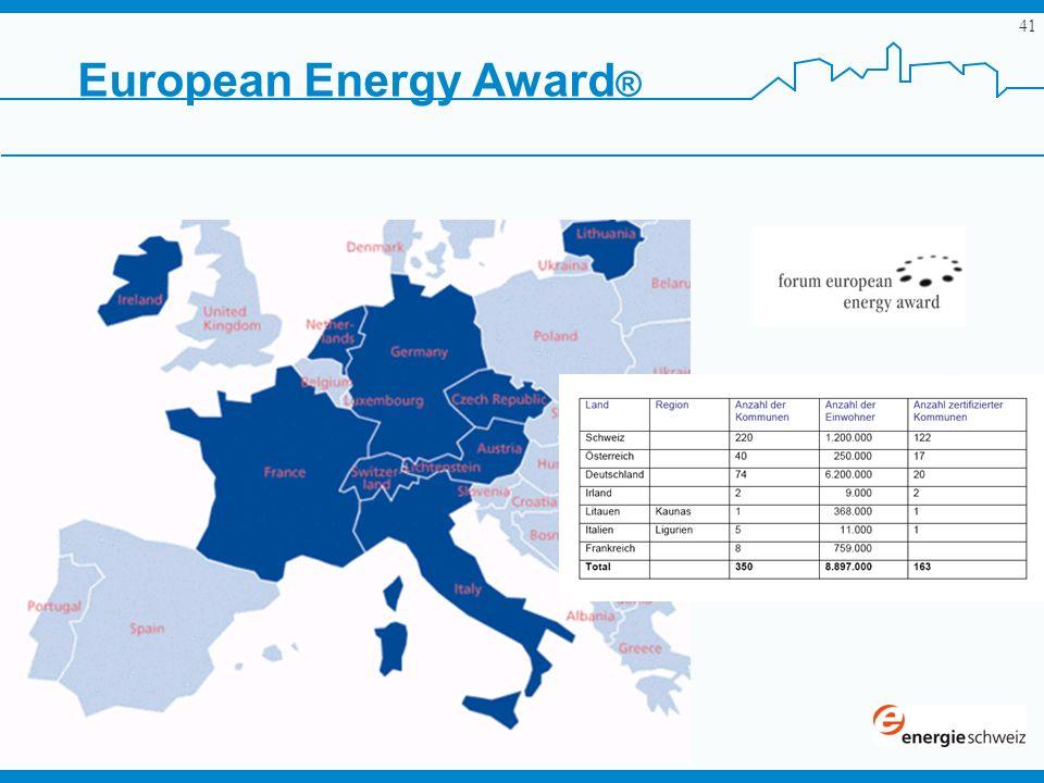 41 European Energy Award ®