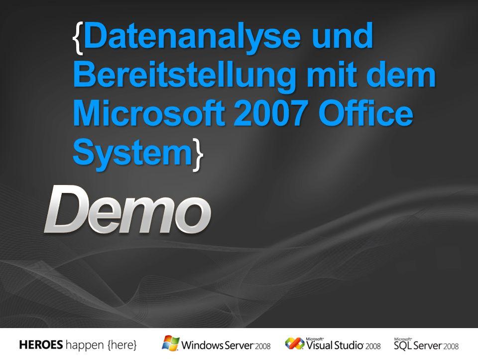 {Datenanalyse und Bereitstellung mit dem Microsoft 2007 Office System}