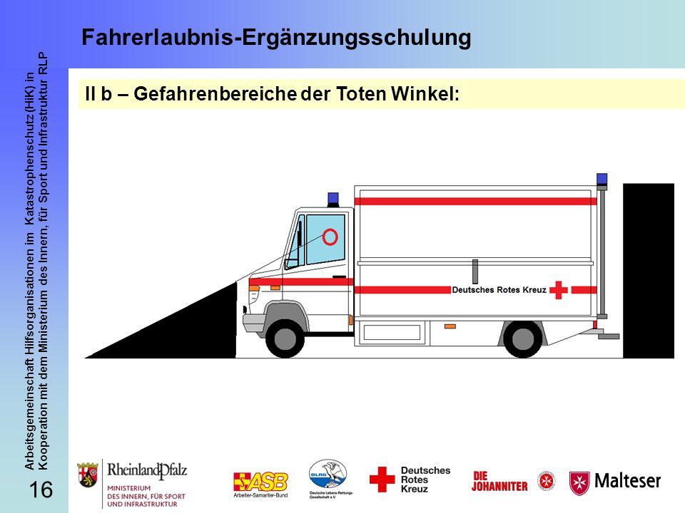 16 Arbeitsgemeinschaft Hilfsorganisationen im Katastrophenschutz (HiK) in Kooperation mit dem Ministerium des Innern, für Sport und Infrastruktur RLP