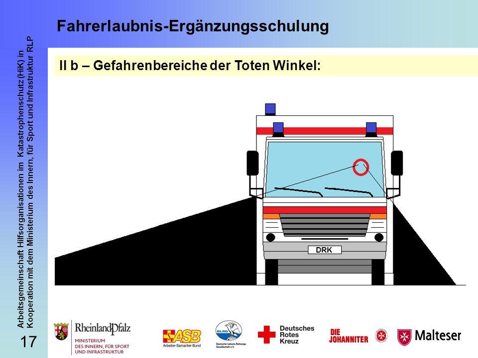 17 Arbeitsgemeinschaft Hilfsorganisationen im Katastrophenschutz (HiK) in Kooperation mit dem Ministerium des Innern, für Sport und Infrastruktur RLP