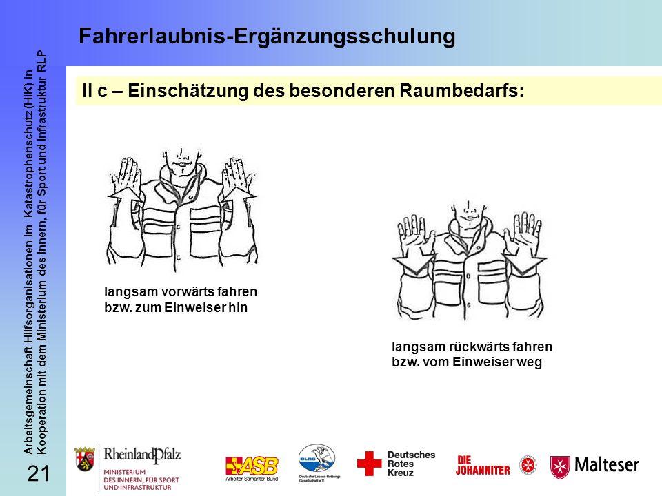 21 Arbeitsgemeinschaft Hilfsorganisationen im Katastrophenschutz (HiK) in Kooperation mit dem Ministerium des Innern, für Sport und Infrastruktur RLP