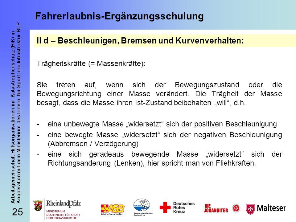 25 Arbeitsgemeinschaft Hilfsorganisationen im Katastrophenschutz (HiK) in Kooperation mit dem Ministerium des Innern, für Sport und Infrastruktur RLP