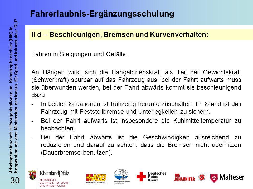 30 Arbeitsgemeinschaft Hilfsorganisationen im Katastrophenschutz (HiK) in Kooperation mit dem Ministerium des Innern, für Sport und Infrastruktur RLP