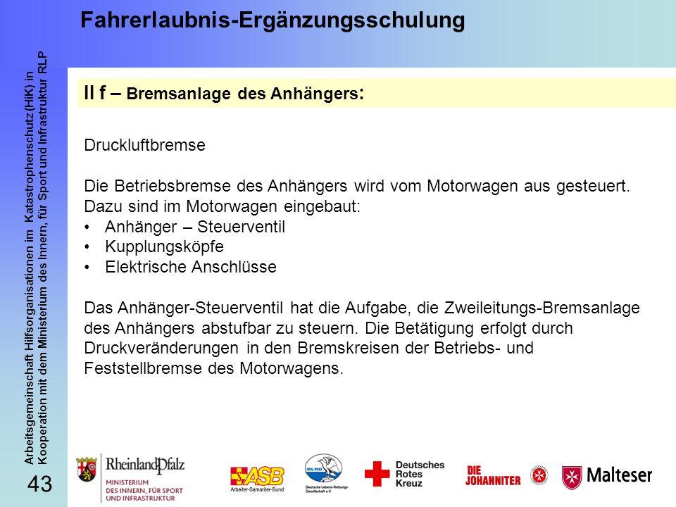 43 Arbeitsgemeinschaft Hilfsorganisationen im Katastrophenschutz (HiK) in Kooperation mit dem Ministerium des Innern, für Sport und Infrastruktur RLP