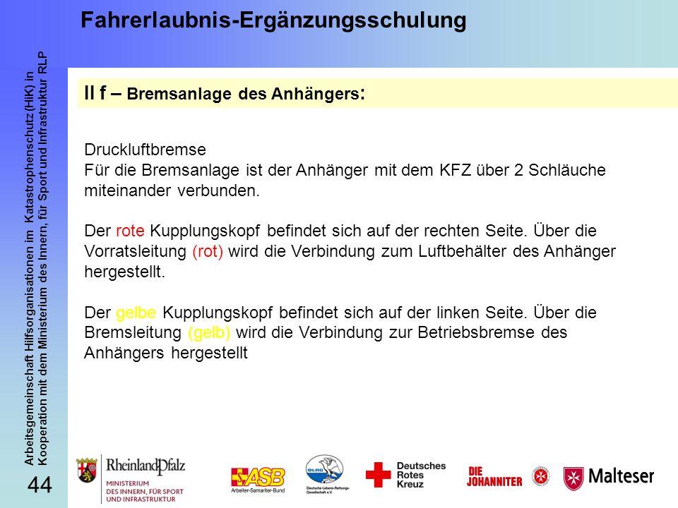 44 Arbeitsgemeinschaft Hilfsorganisationen im Katastrophenschutz (HiK) in Kooperation mit dem Ministerium des Innern, für Sport und Infrastruktur RLP