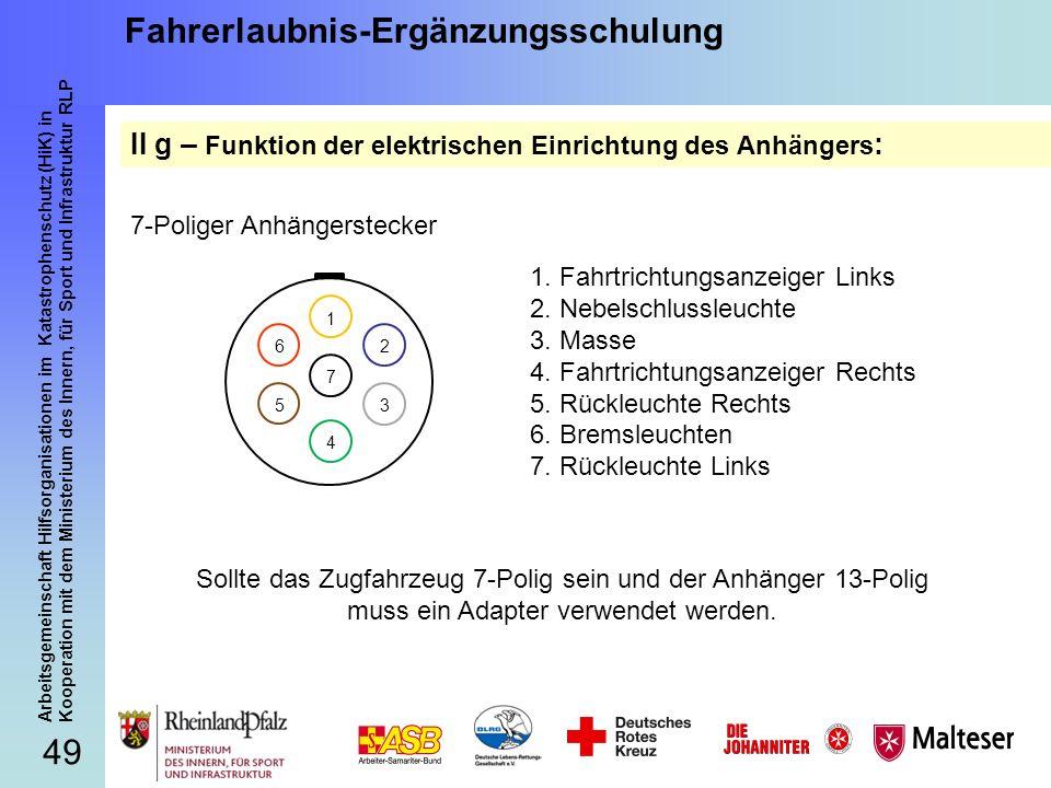 49 Arbeitsgemeinschaft Hilfsorganisationen im Katastrophenschutz (HiK) in Kooperation mit dem Ministerium des Innern, für Sport und Infrastruktur RLP